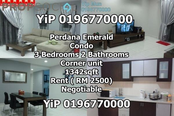 For Rent Condominium at Perdana Emerald, Damansara Perdana Freehold Fully Furnished 3R/2B 2.1k