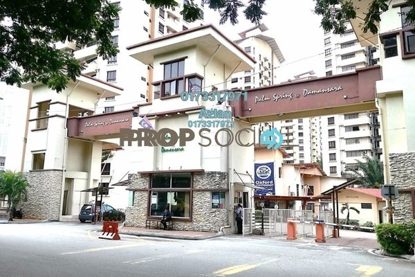 For Rent Condominium at Palm Spring, Kota Damansara Leasehold Semi Furnished 3R/2B 1.5k