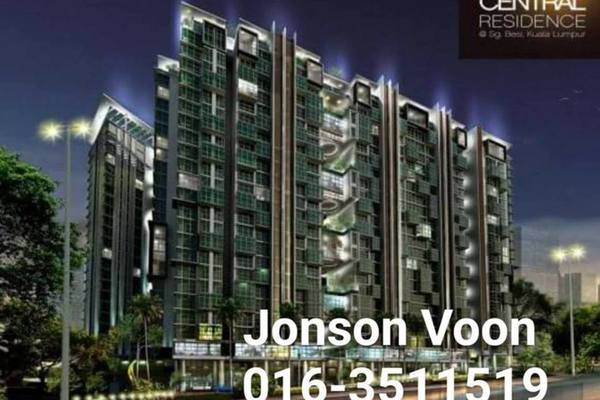 For Sale Condominium at The Court, Sungai Besi Freehold Semi Furnished 3R/2B 630k
