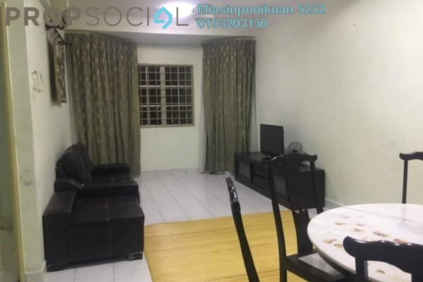 For Rent Condominium at Mawar Apartment, Sentul Freehold Fully Furnished 3R/2B 1.6k