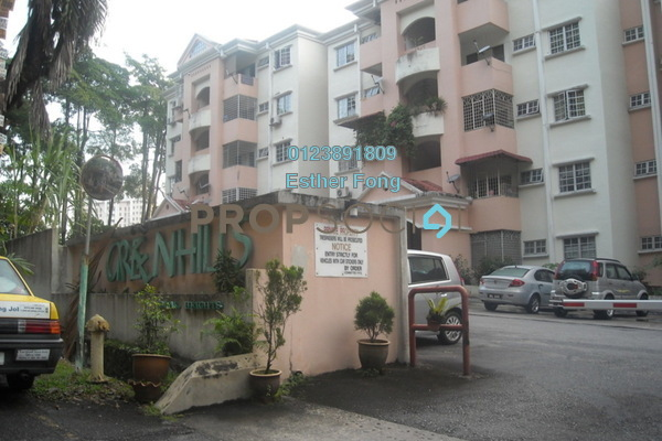 For Rent Apartment at Greenhills, Selayang Freehold Semi Furnished 3R/2B 1.2k