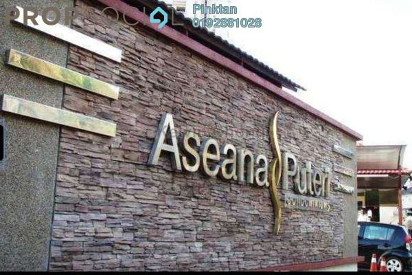 For Rent Condominium at Aseana Puteri, Bandar Puteri Puchong Freehold Semi Furnished 3R/2B 1.85k