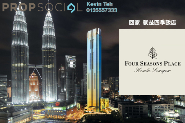 For Sale Condominium at Four Seasons Place, KLCC Freehold Fully Furnished 2R/2B 5.5m