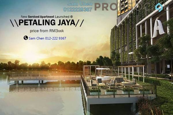 For Sale Serviced Residence at AERA Residence , Petaling Jaya Leasehold Semi Furnished 2R/1B 380k