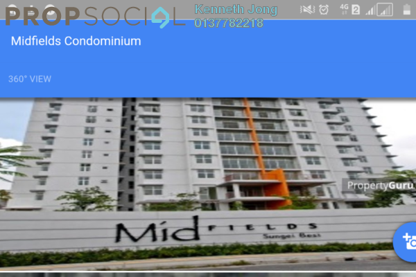 For Sale Condominium at Midfields 2, Sungai Besi Leasehold Semi Furnished 3R/2B 649k