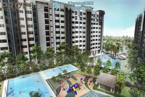 For Sale Apartment at Suria Ixora, Setia Alam Freehold Unfurnished 3R/2B 247k