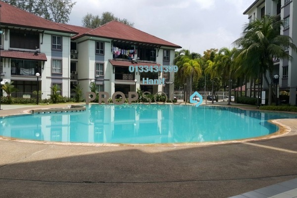 For Sale Condominium at The Lakes Condominiums, Kota Kemuning Freehold Semi Furnished 3R/2B 570k
