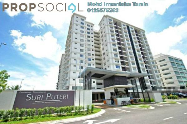 For Sale Apartment at Suri Puteri, Shah Alam Leasehold Semi Furnished 3R/2B 400k