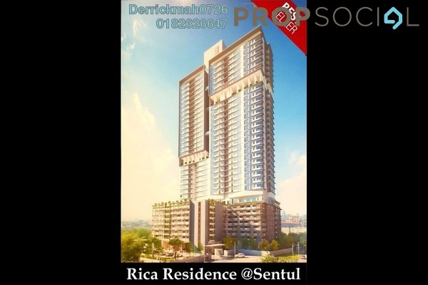 For Sale Serviced Residence at Rica Residence, Sentul Freehold Unfurnished 2R/1B 500k