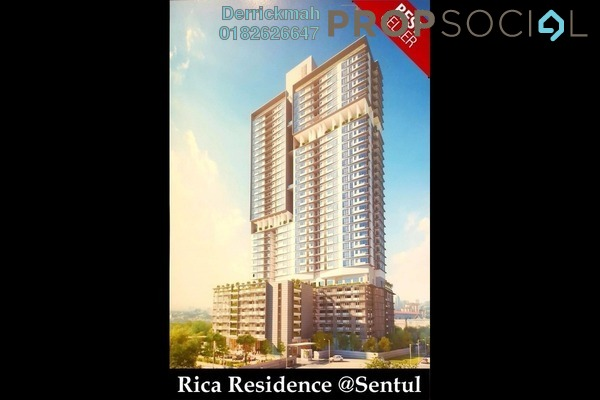 For Sale Serviced Residence at Rica Residence, Sentul Freehold Unfurnished 1R/0B 418k
