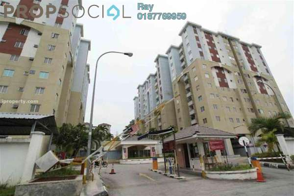 For Rent Condominium at Aliran Damai, Cheras South Freehold Semi Furnished 3R/2B 1.3k