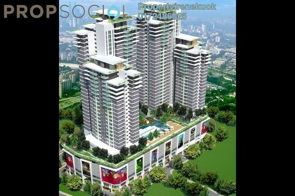 For Rent Apartment at Maxim Residences, Cheras Freehold Semi Furnished 1R/1B 1k