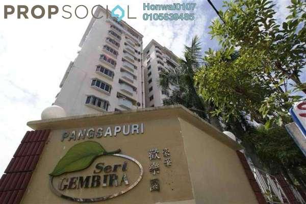 For Rent Apartment at Seri Gembira Apartment, Jalan Ipoh Freehold Unfurnished 4R/2B 1.35k
