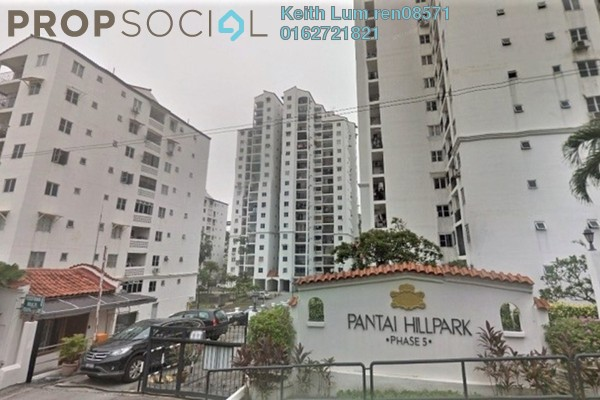 For Rent Condominium at Pantai Hillpark 5, Pantai Freehold Semi Furnished 3R/3B 1.8k