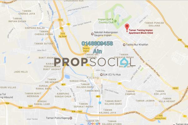For Sale Apartment at Taman Taming Impian, Kajang Freehold Unfurnished 3R/2B 204k
