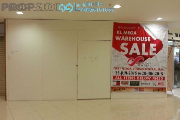 For Rent Shop at Cheras Business Centre, Cheras Freehold Semi Furnished 1R/0B 1.4k