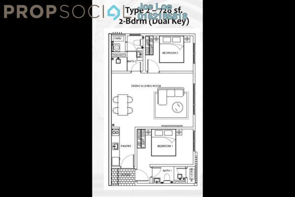For Sale Condominium at Sunsuria 7th Avenue, Setia Alam Freehold Semi Furnished 1R/1B 315k