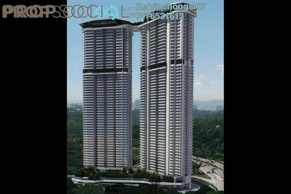For Rent Condominium at The Sentral Residences, KL Sentral Freehold Semi Furnished 3R/2B 8k