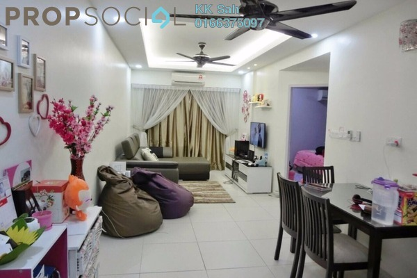 For Rent Condominium at Bandar Bukit Tinggi 2, Klang Freehold Fully Furnished 3R/2B 1.5k