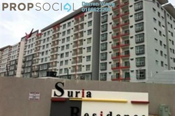 For Rent Apartment at Suria Residence, Bandar Mahkota Cheras Freehold Semi Furnished 3R/2B 1.1k