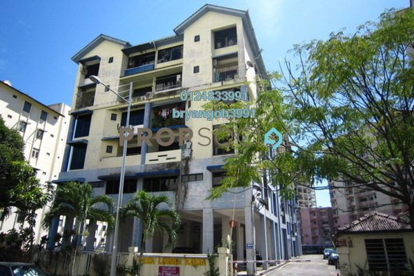 For Rent Apartment at Desa Lumba Kuda, Georgetown Freehold Fully Furnished 2R/1B 1.2k