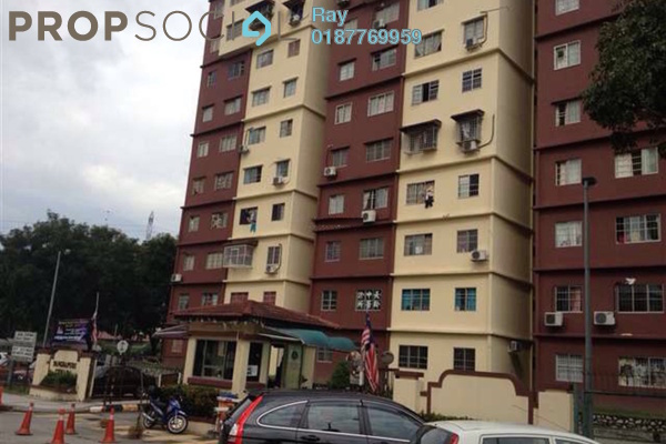 For Rent Apartment at Cemara Apartment, Bandar Sri Permaisuri Freehold Fully Furnished 3R/2B 1.4k
