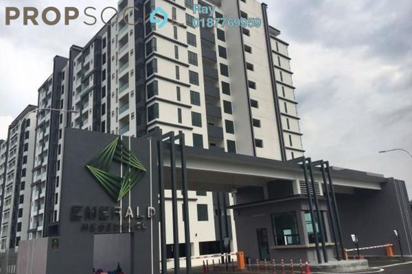 For Rent Condominium at Emerald Residence, Bandar Mahkota Cheras Freehold Semi Furnished 3R/2B 1.2k