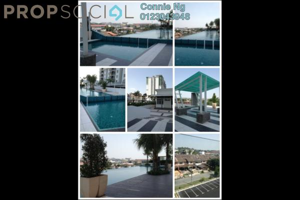 For Rent Condominium at Pearl Avenue, Bukit Tambun Freehold Semi Furnished 3R/2B 1.5k