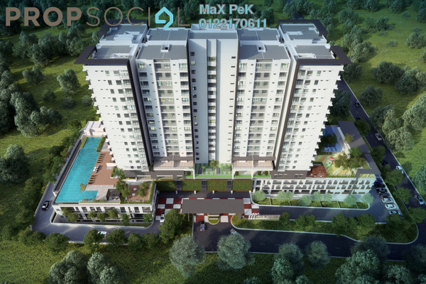 For Sale Condominium at Iris Residence, Bandar Sungai Long Freehold Unfurnished 4R/3B 544k