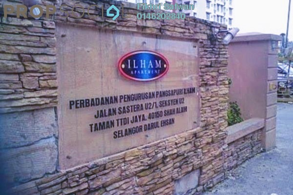 For Rent Apartment at Ilham Apartment, TTDI Jaya Freehold Fully Furnished 3R/2B 1k