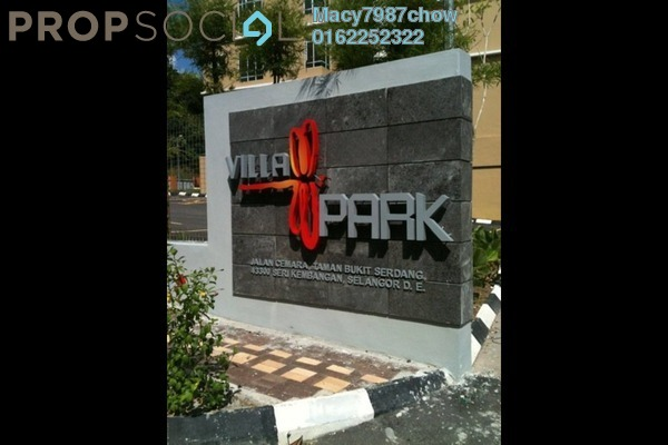 For Sale Apartment at Villa Park, Seri Kembangan Freehold Semi Furnished 4R/2B 520k