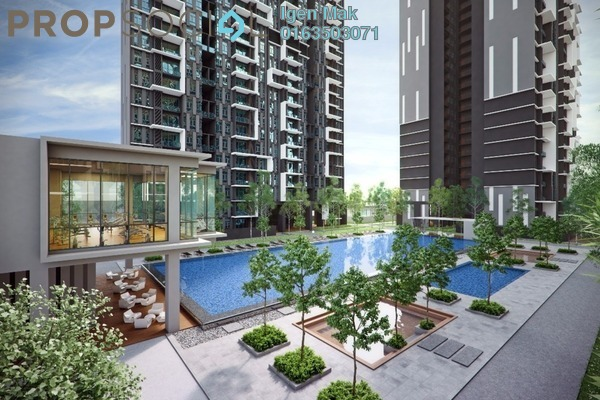 For Rent Condominium at Green Residence, Cheras South Freehold Semi Furnished 3R/2B 1.6k