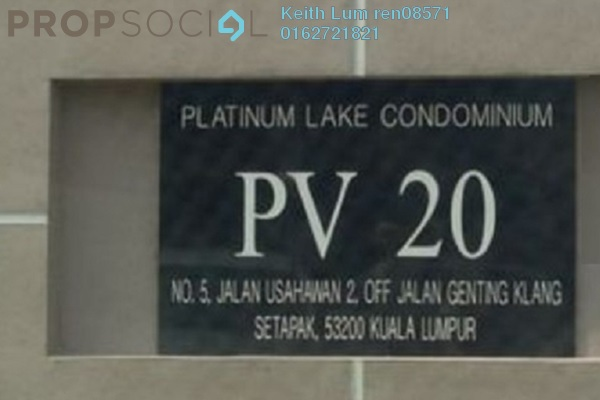 For Rent Condominium at Platinum Lake PV12, Setapak Freehold Semi Furnished 3R/2B 2k