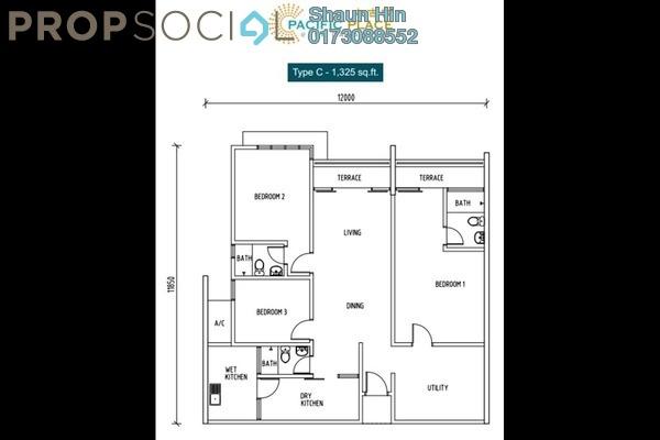 For Rent Condominium at Pacific Place, Ara Damansara Freehold Semi Furnished 3R/3B 1.8k