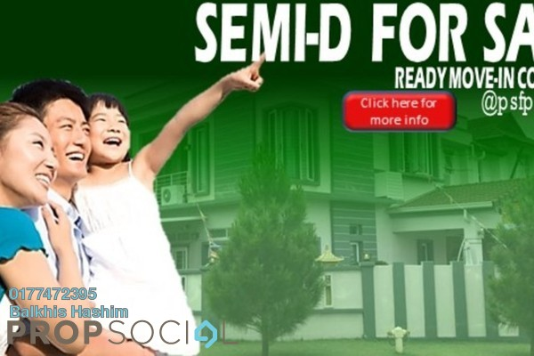 For Sale Semi-Detached at Sunway Alam Suria, Shah Alam Leasehold Semi Furnished 4R/3B 1.2m