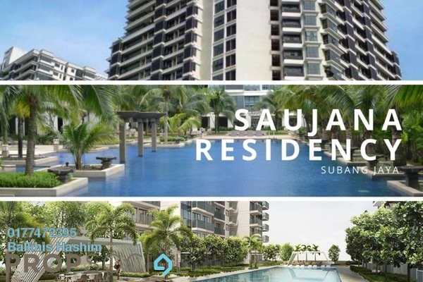 For Rent Condominium at Saujana Residency, Subang Jaya Freehold Fully Furnished 1R/1B 2.8k