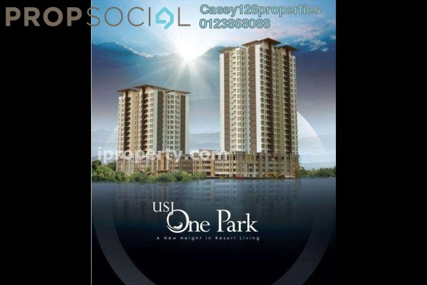For Rent Condominium at USJ One Park, UEP Subang Jaya Leasehold Semi Furnished 3R/2B 1.5k
