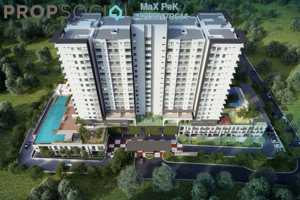 For Sale Condominium at Iris Residence, Bandar Sungai Long Freehold Unfurnished 3R/2B 498k