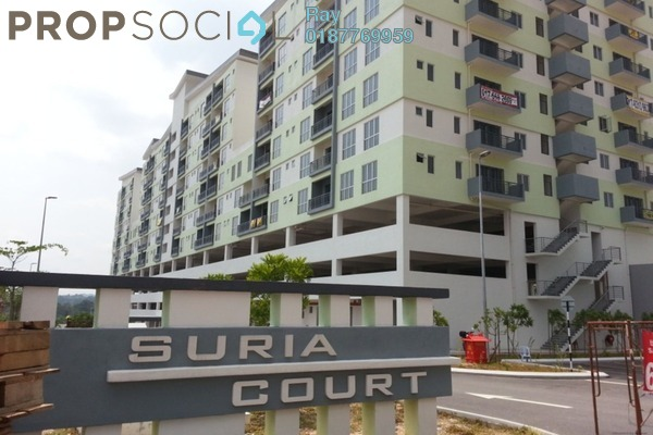 For Sale Apartment at Suria Court, Bandar Mahkota Cheras Freehold Fully Furnished 3R/2B 370k