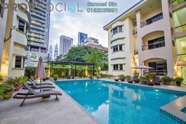 For Rent Condominium at Villa Bolton, Ampang Hilir Freehold Semi Furnished 3R/3B 5.5k