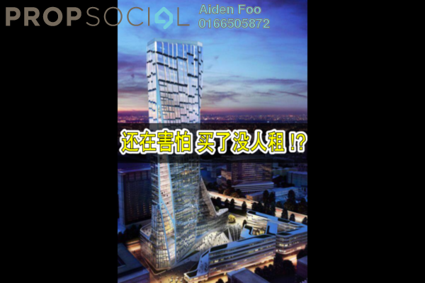 For Sale SoHo/Studio at 3 Towers, Ampang Hilir Freehold Semi Furnished 1R/1B 460k