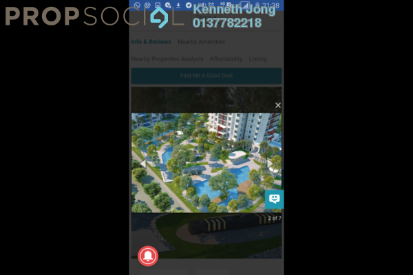 For Sale Condominium at Midfields 2, Sungai Besi Freehold Semi Furnished 3R/2B 620k