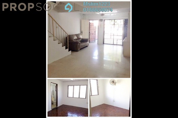For Rent Terrace at Taman Sri Sinar, Segambut Freehold Semi Furnished 3R/2B 1.3k