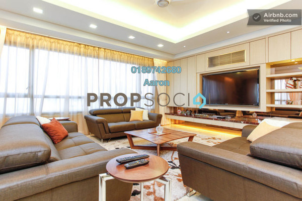 For Rent Condominium at The CapSquare Residences, Dang Wangi Freehold Fully Furnished 12R/8B 9k