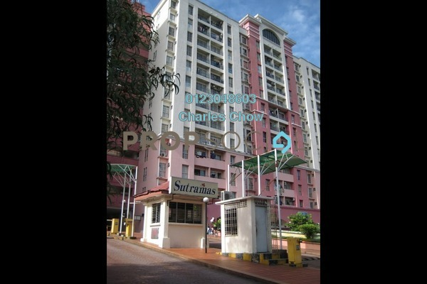 For Rent Condominium at Sutramas, Bandar Puchong Jaya Freehold Semi Furnished 3R/2B 1.2k