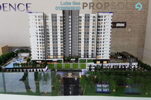 For Sale Condominium at Iris Residence, Bandar Sungai Long Freehold Unfurnished 3R/2B 483k