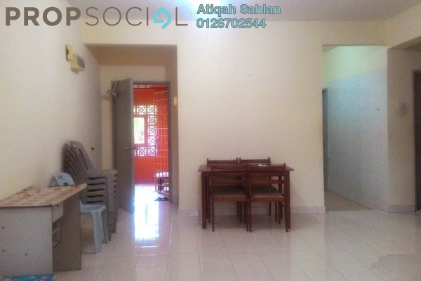 For Rent Apartment at Baiduri Apartment, Shah Alam Freehold Semi Furnished 3R/2B 1.2k