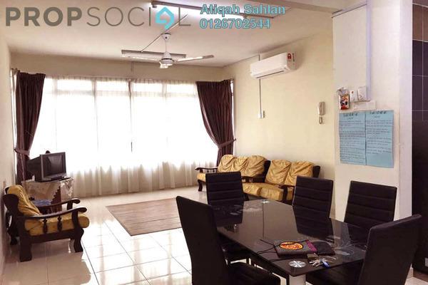 For Rent Apartment at Mutiara Anggerik, Shah Alam Freehold Semi Furnished 3R/2B 1.5k