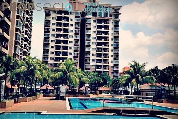 For Rent Condominium at Ampang Boulevard, Ampang Freehold Semi Furnished 3R/2B 1.8k