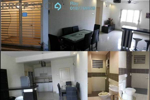 For Rent Apartment at Putra Suria Residence, Bandar Sri Permaisuri Freehold Semi Furnished 3R/2B 1.6k